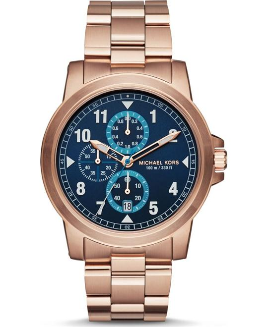 Michael Kors Paxton Blue Sunray Watch 44mm