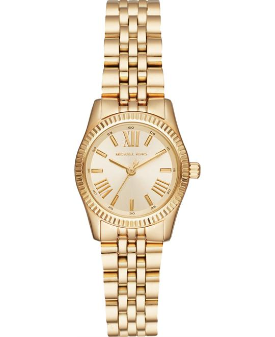 MICHAEL KORS Petite Lexington Gold-Tone Watch 26mm
