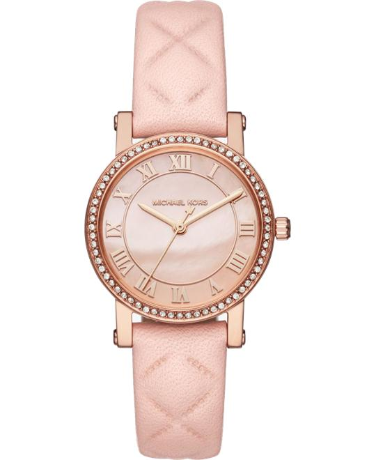 MICHAEL KORS Petite Norie Leather Watch 28mm