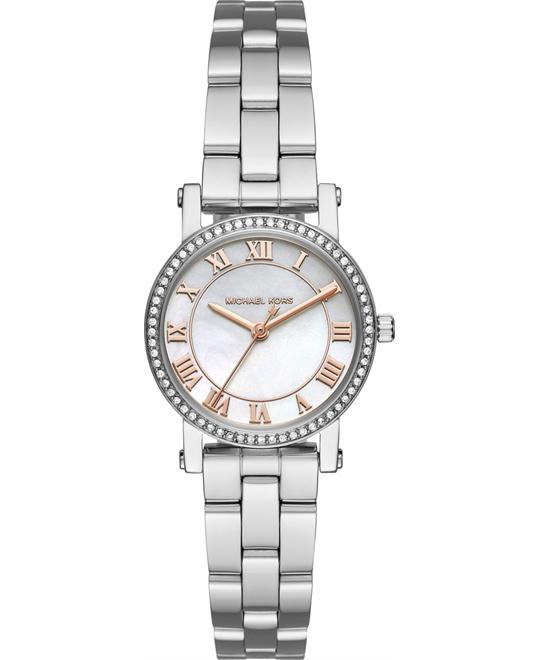 MICHAEL KORS Petite Norie Silver-Tone Watch 28mm