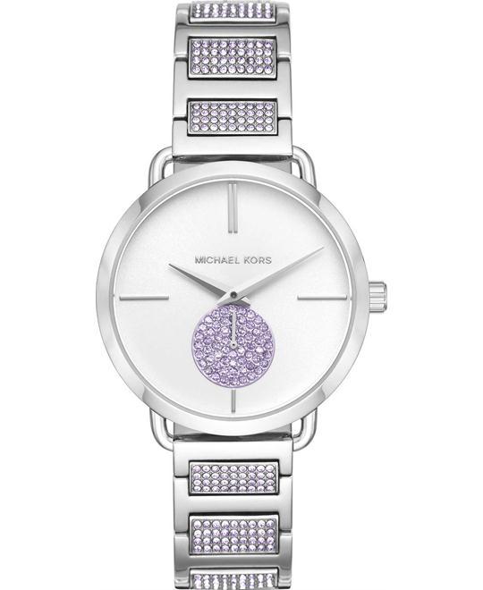 đồng hồ Michael Kors Portia Lavender Pavé Watch 37mm