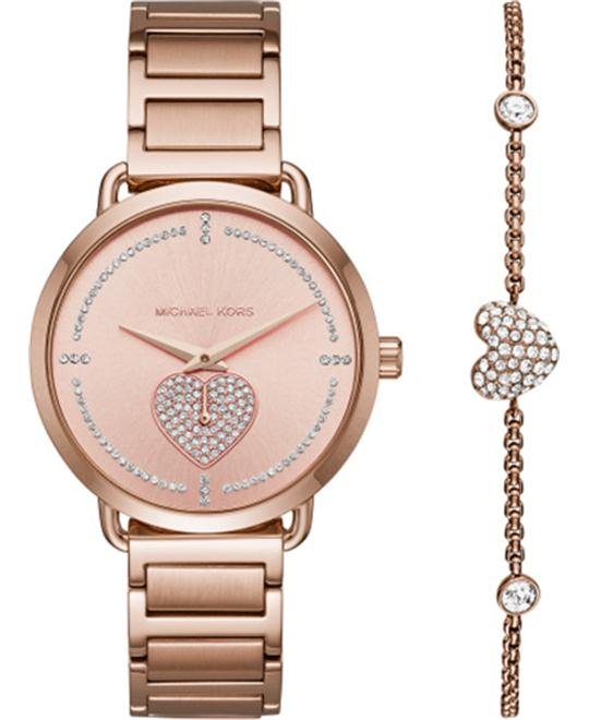 MICHAEL KORS Portia Pavé Watch 36.5mm