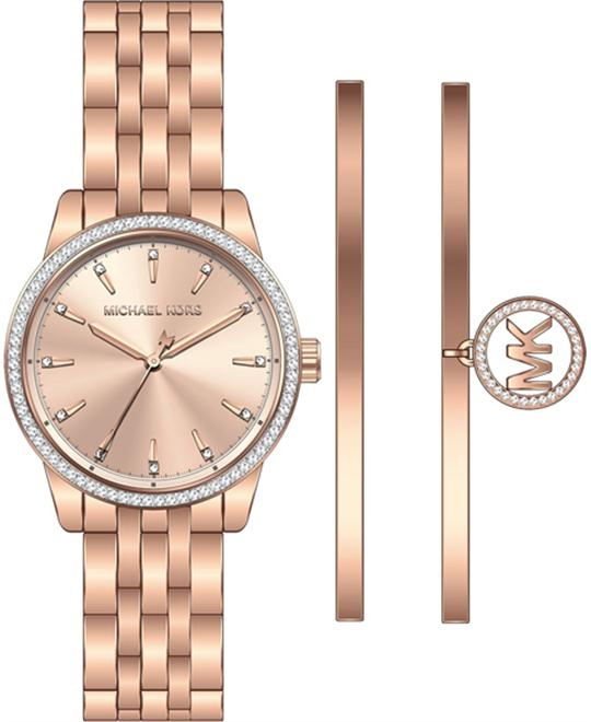 MICHAEL KORS Ritz Watch and Bangle Set 33mm