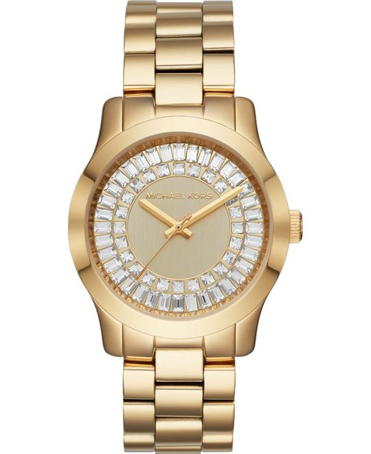 Michael Kors Runway Baguette Gold-Tone Watch 40mm
