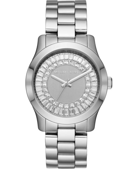 Michael Kors Runway Baguette Silver-Tone Watch 40mm