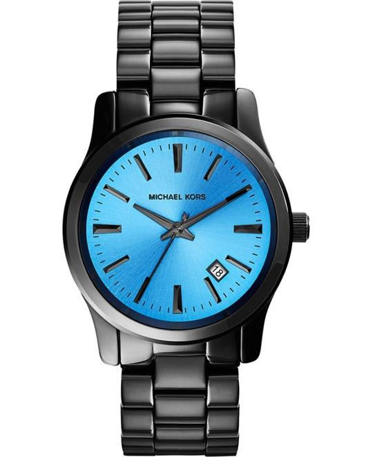 Michael Kors Runway Unisex Blue and Onyx Watch 38mm