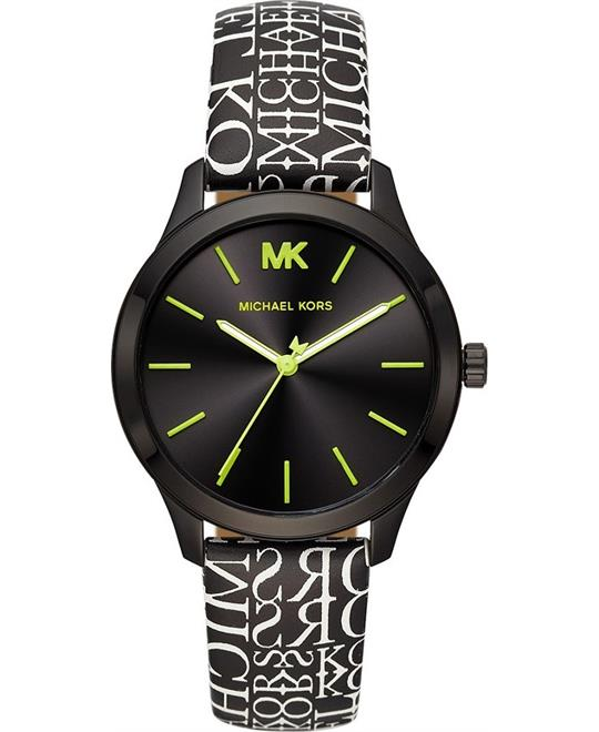 Michael Kors Runway Newsprint Logo Watch 38mm