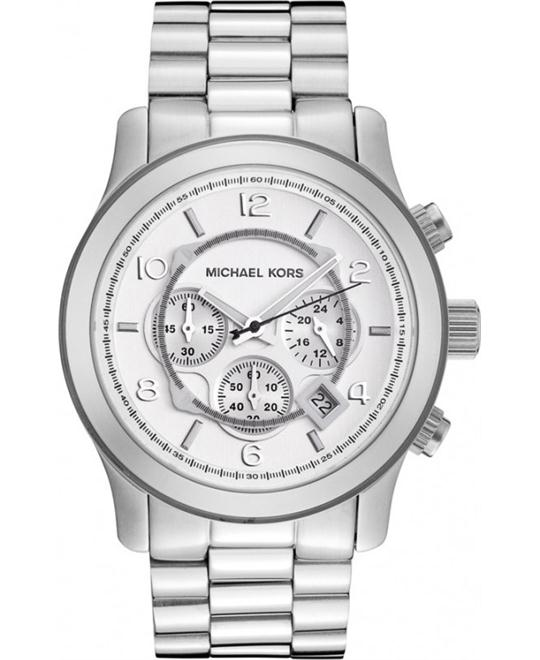 Michael Kors Runway Oversized Silver Men's Watch 45mm