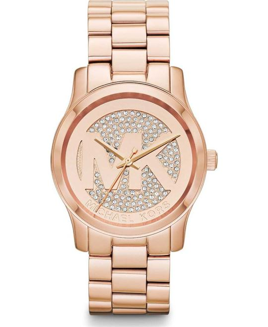 Michael Kors Runway Rose Gold Glitz Watch 38mm