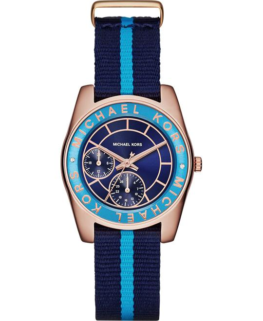 Michael Kors Ryland Turquoise Grosgrain Watch 33mm