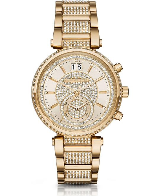 MICHAEL KORS Sawyer Champagne Ladies Watch 39mm