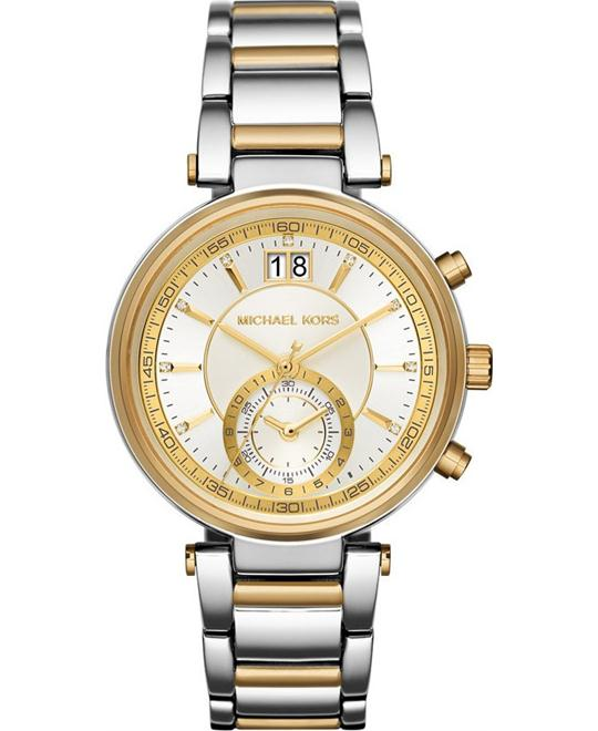 Michael Kors Sawyer Silver-gold Watch 39mm