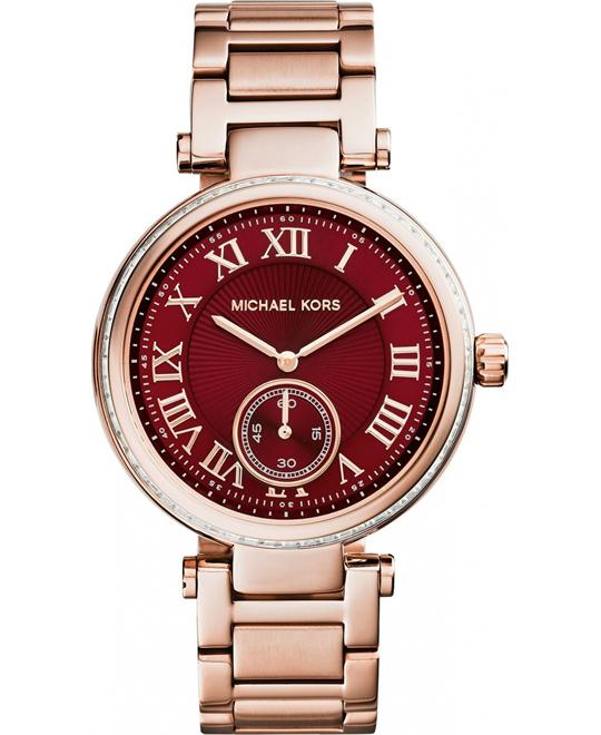 MICHAEL KORS Skylar Rose Gold Ladies Watch 42mm