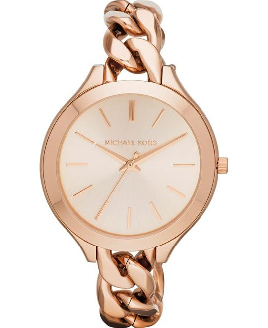 Michael Kors Slim Runway Chain-Link Watch 42mm