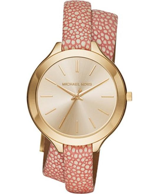MICHAEL KORS Slim Runway Double Wrap Watch 42mm