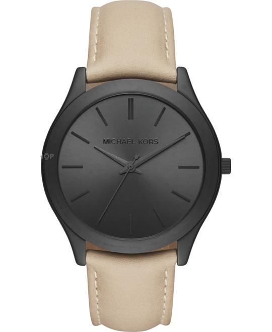 MICHAEL KORS Slim Runway Leather Watch 44mm