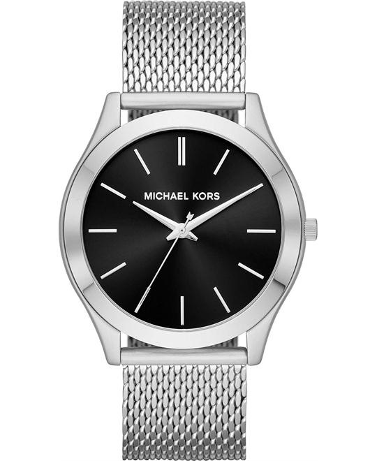 MICHAEL KORS Slim Runway Mesh Silver-Tone Watch 44mm