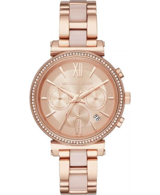 Michael Kors Sofie Rose Gold-Tone Watch 39mm