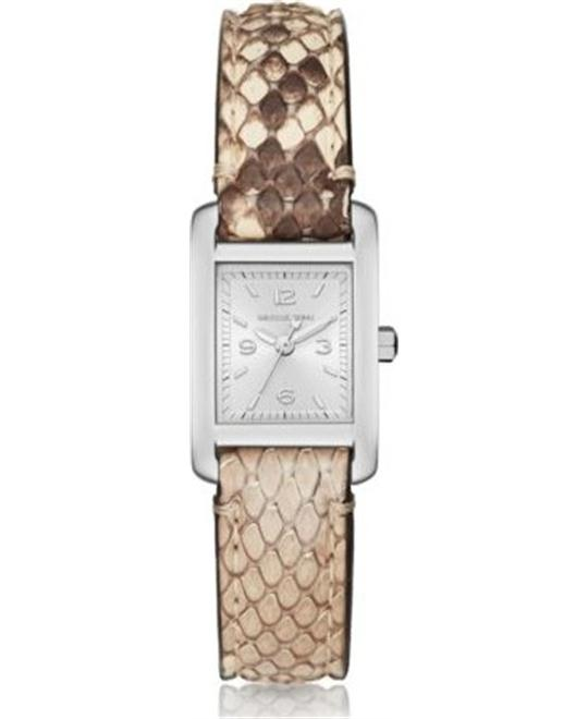 MICHAEL KORS Taylor Silver-Tone And Python Watch 19mm