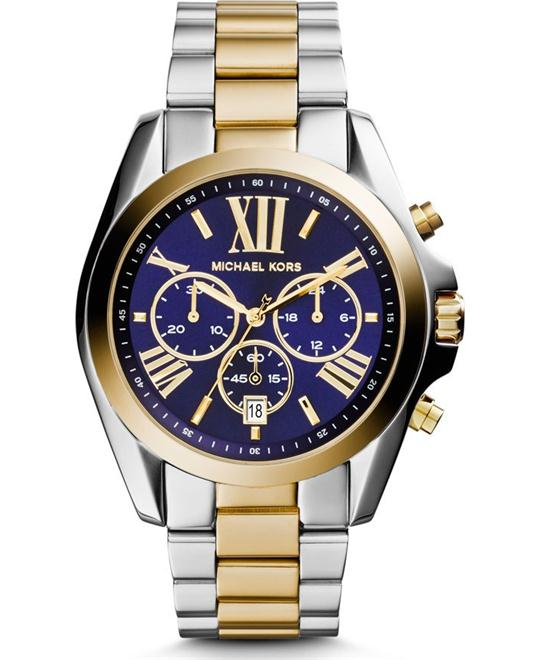 Michael Kors Bradshaw Two Tone Blue Watch 43mm