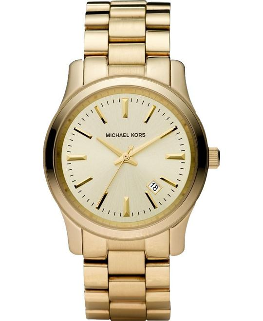 Michael Kors Runway Gold Ion-Plated Unisex Watch 38mm