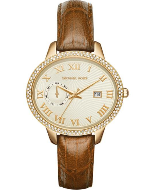 MICHAEL KORS Whitley Pavé Gold-Tone Watch 41mm