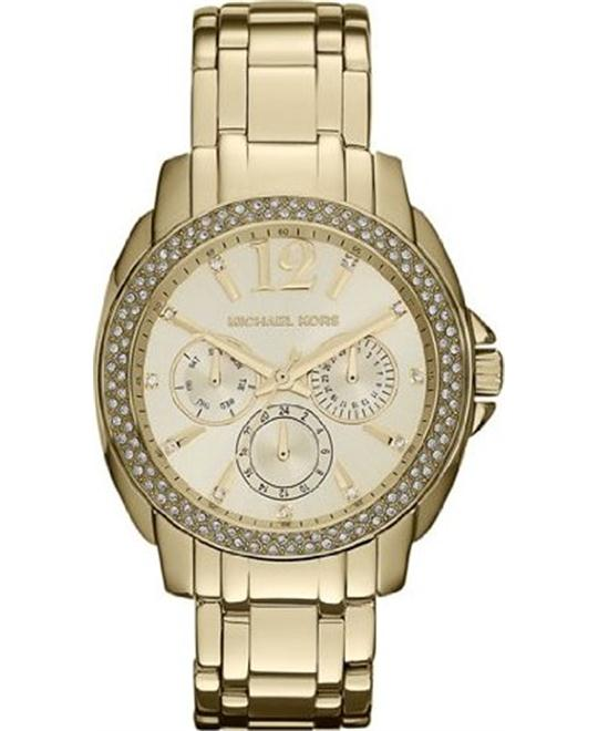 Michael Kors 'Cameron'  Unisex Round Gold Watch 38mm