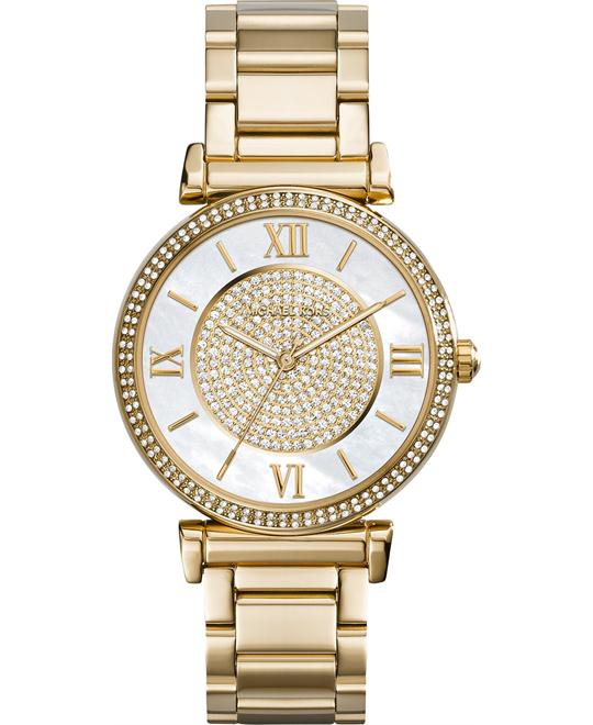Michael Kors Catlin Mother of Gold-plated Watch 38mm