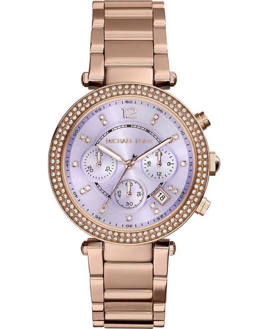 Michael Kors Parker Purple Dial Women's Watch 39mm