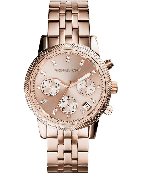Michael Kors Ritz Rose Gold Unisex Watch 37mm