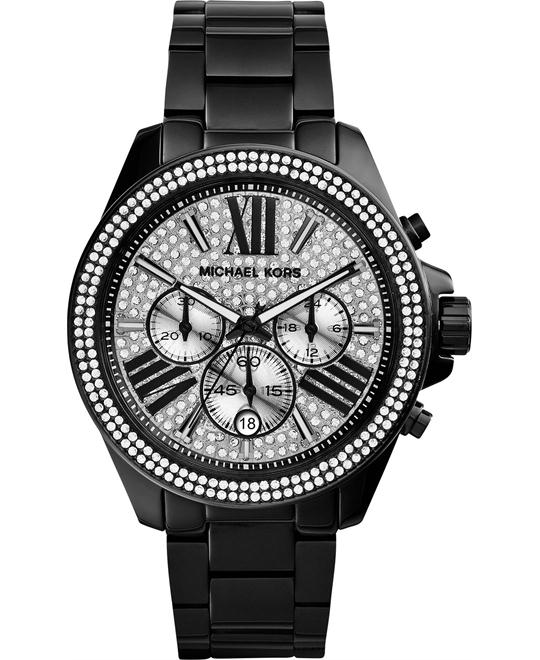 Michael Kors Wren Black Ion-Plated Unisex Watch 42mm