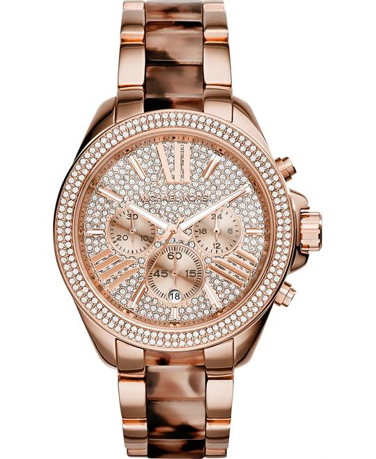 Michael Kors Wren Crystal Pave Dial Unisex Watch 42mm