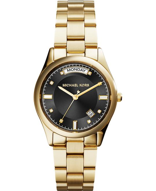 Michael Kors Colette Black Dial Gold Women's Watch 34mm