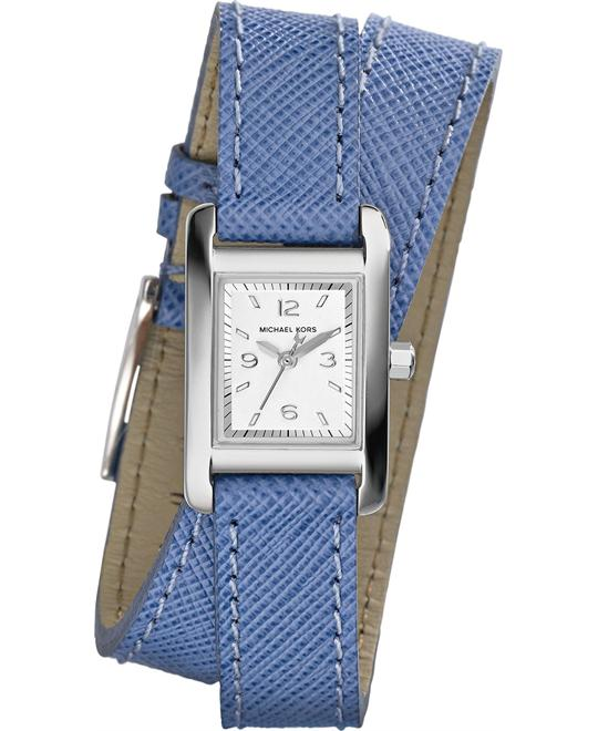 Michael Kors Taylor Blue Double Wrap Women's Watch 22x20mm