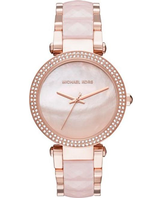 Michael Kors Women's Parker Rose Gold-Tone Watch 39mm