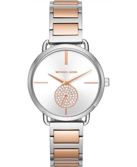 đồng hồ Michael Kors Women's Portia Two-Tone Watch 37mm