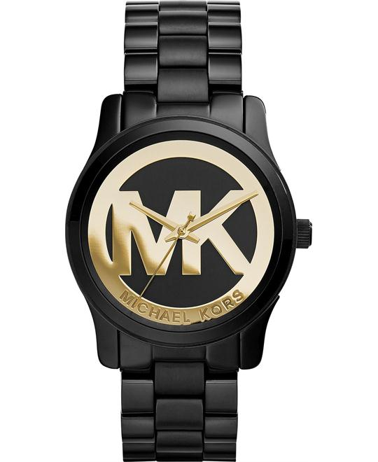 Michael Kors Runway Black and Gold Women's Watch 34mm