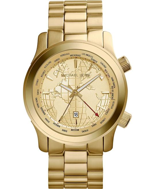 Michael Kors Runway World Map Men's Watch 44mm