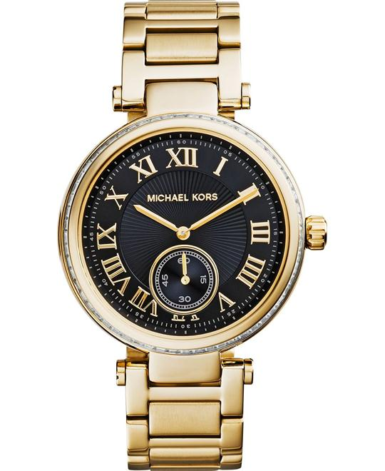 Michael Kors Skylar Black and Gold Unisex Watch 42mm