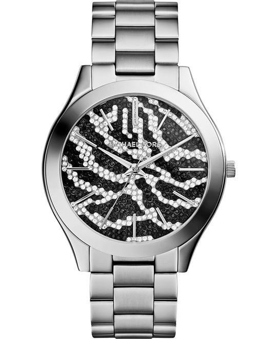 MICHAEL KORS Slim Runway Zebra-pattern Watch 42mm