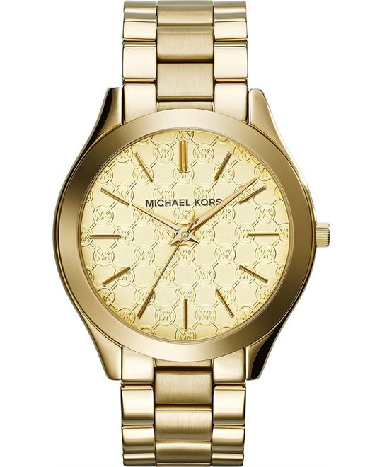 Michael Kors Slim Runway Gold Unisex Watch 42mm