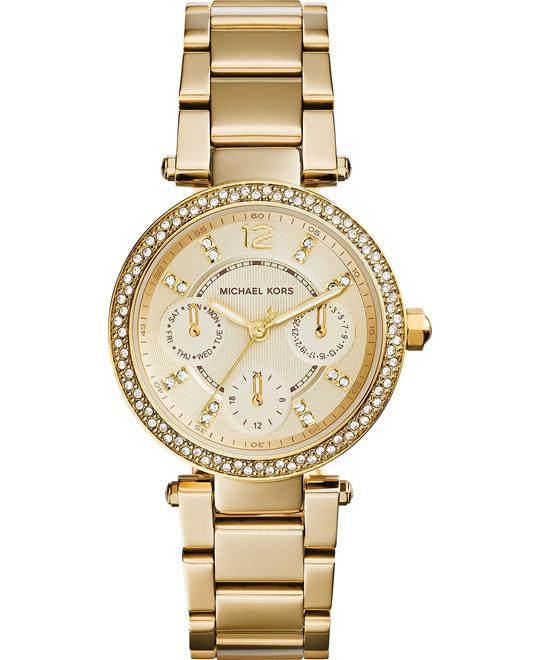 Michael Kors Mini Parker Champagne Glitz Watch 33mm