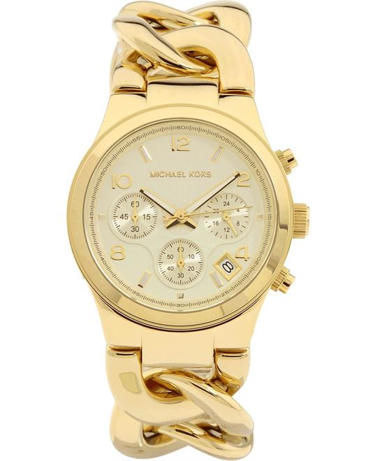 Michael Kors Runway Twist Gold Women's Watch, 37mm