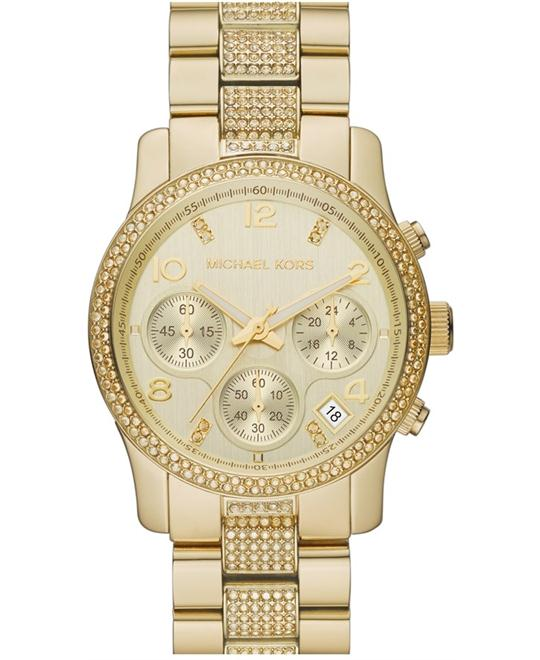 Michael Kors Runway Gold Crystals Unisex Watch 38mm