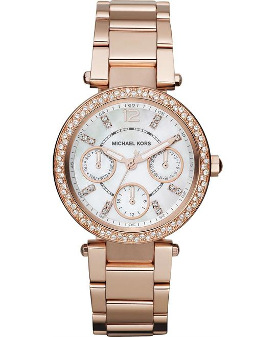 Michael Kors Mini Parker Rose Gold Ladies Watch 33mm