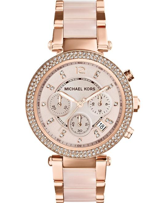Michael Kors Parker Blush/Rose Gold Women's Watch 39mm