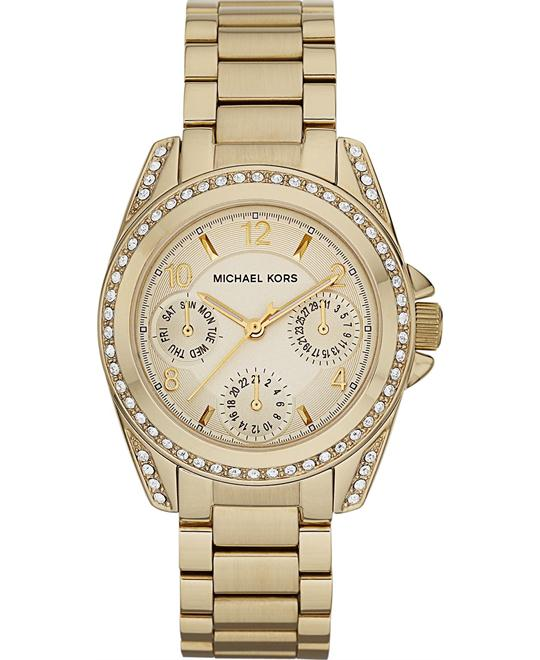 Michael Kors Blair Gold Tone Crystal Women's Watch 33mm