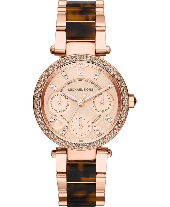 Michael Kors Mini Parker Tortoise Women's Watch 33mm
