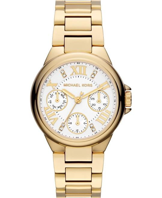 Michael Kors Camille Glitz Gold Watch 33mm