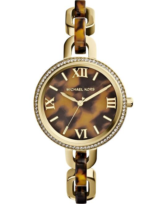 Michael Kors Delaney Gold Tortoise Watch 37mm